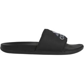 adidas Adilette Comfort Sandalias Mujer, negro/Plateado